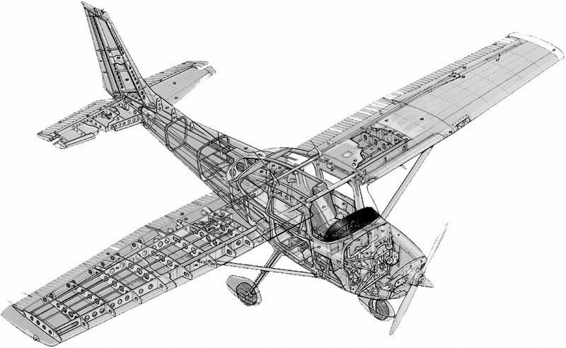 1/20 scale Cessna C-172 Skyhawk model by Nichimo