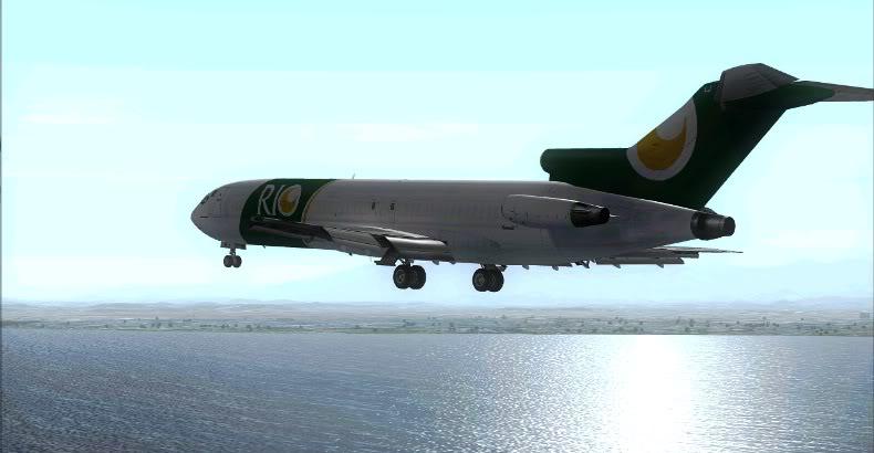 [FS9] 727 da Rio Cargo chegando no GIG Rio2