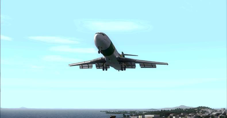 [FS9] 727 da Rio Cargo chegando no GIG Rio3