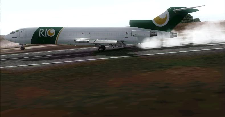 [FS9] 727 da Rio Cargo chegando no GIG Rio4
