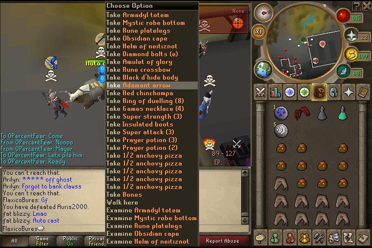 Leet Skills & Young Mula go dragon clawing on RuneScape 390pk