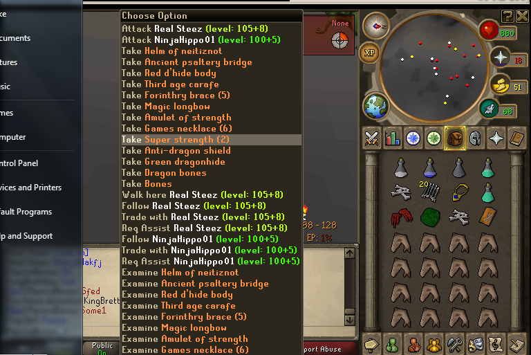 Leet Skills & Young Mula go dragon clawing on RuneScape Pknumber3