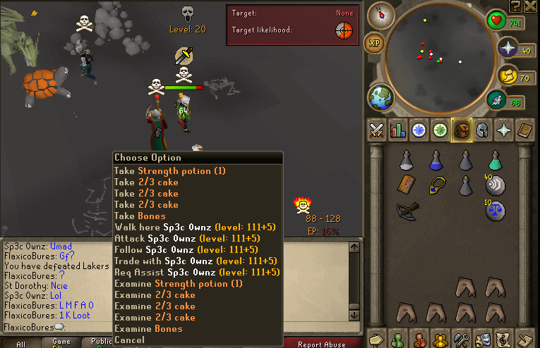 Leet Skills & Young Mula go dragon clawing on RuneScape Pknumber5