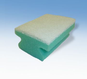 Green algae dots Washing-up-scourer