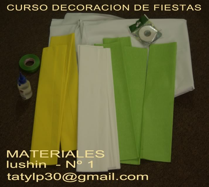 CURSO DECORACION FIESTAS INFANTILES (GALERIA) Materiales-4