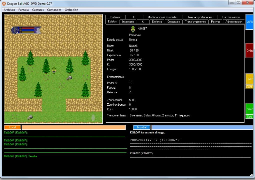 Dragon Ball AGD-SWD Demo 0.98 Reconstruida VentanaNegra1_zpsf8a0c539