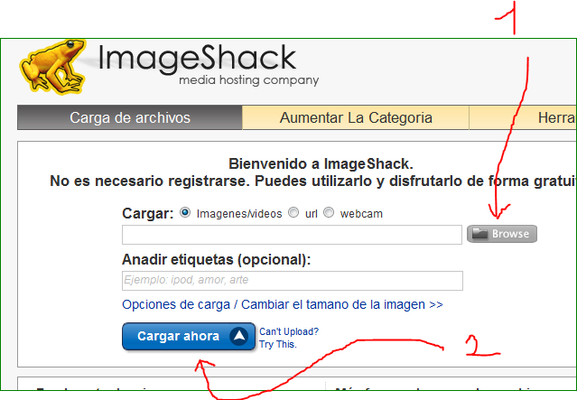 REGISTRARSE Y SUBIR FOTOS A IMAGESHACK  Img-2