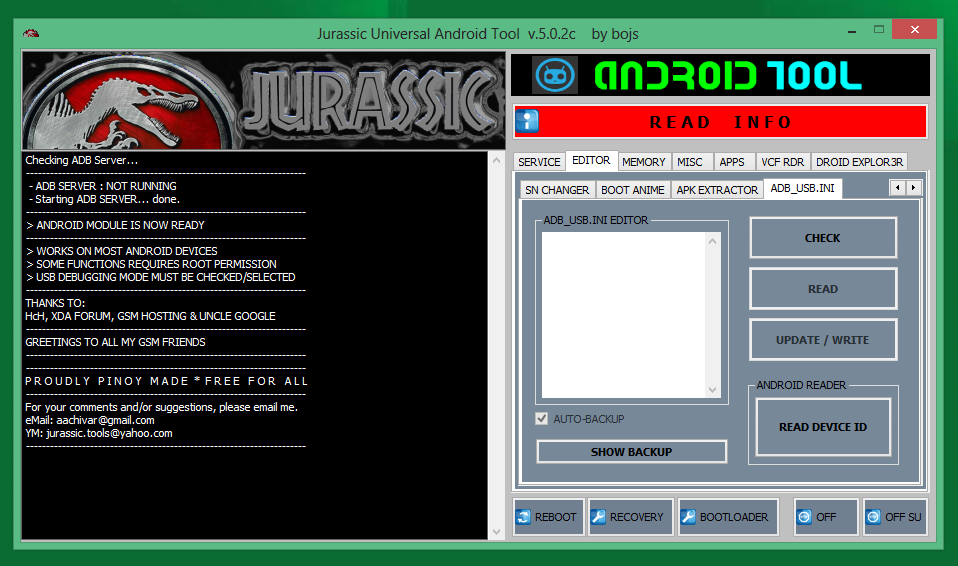 jurassic uniandroid setup 5.0.3