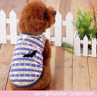 The Dog Boutique: Pet Clothes & Pet Jewels for Sale Pirate-Bat-T-Shirt-Blue