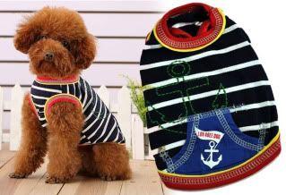 The Dog Boutique: Pet Clothes & Pet Jewels for Sale Sailor-T-Shirt-Blue-1