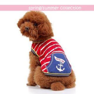 The Dog Boutique: Pet Clothes & Pet Jewels for Sale Sailor-T-Shirt-Red