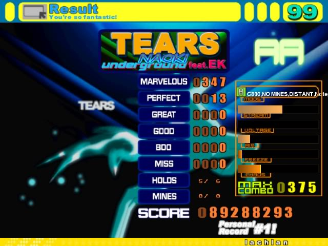 Glorious Thread of Stepmania Scores and Achievements Screen00001-1
