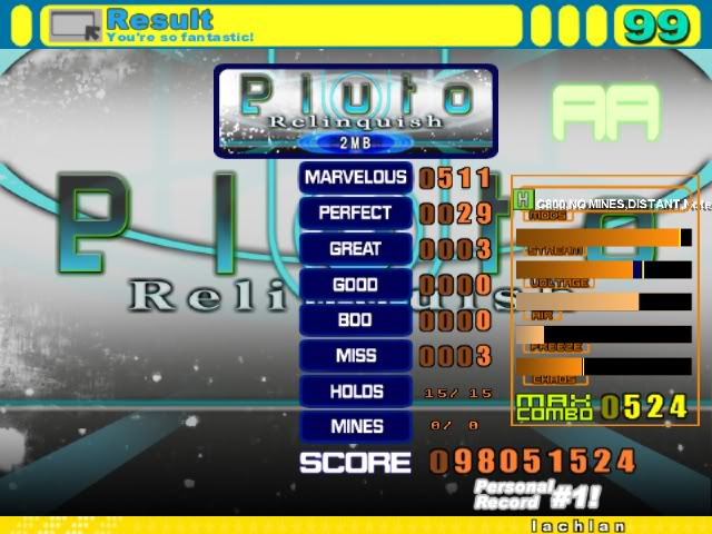 Glorious Thread of Stepmania Scores and Achievements Screen00002-1