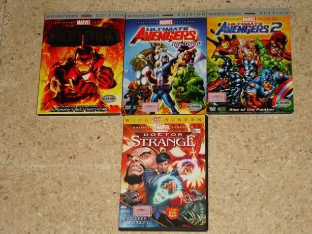 Share koleksi BLU-RAY, DVD film Marvel kamu DVD1