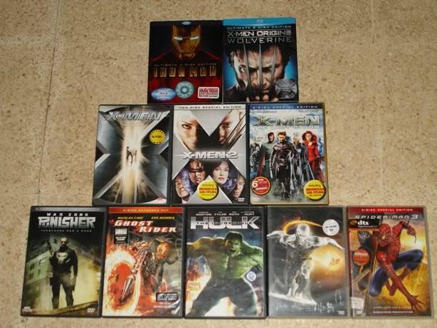 Share koleksi BLU-RAY, DVD film Marvel kamu DVD2