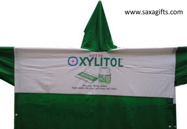Công ty SAXA chuyên sản xuất áo mưa cánh dơi, áo mưa bộ, in áo mưa quảng cáo SAXA-Ao-mua-N012
