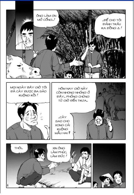 """Tiểu thuyết """"Tắt đèn"""" của Ngô Tất Tố đã được tái hiện bằng truyện tranh Trang4"""