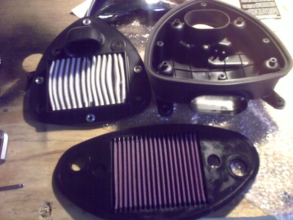 * Suzuki C800,  Air Filter Mod * k&N * 06082010171