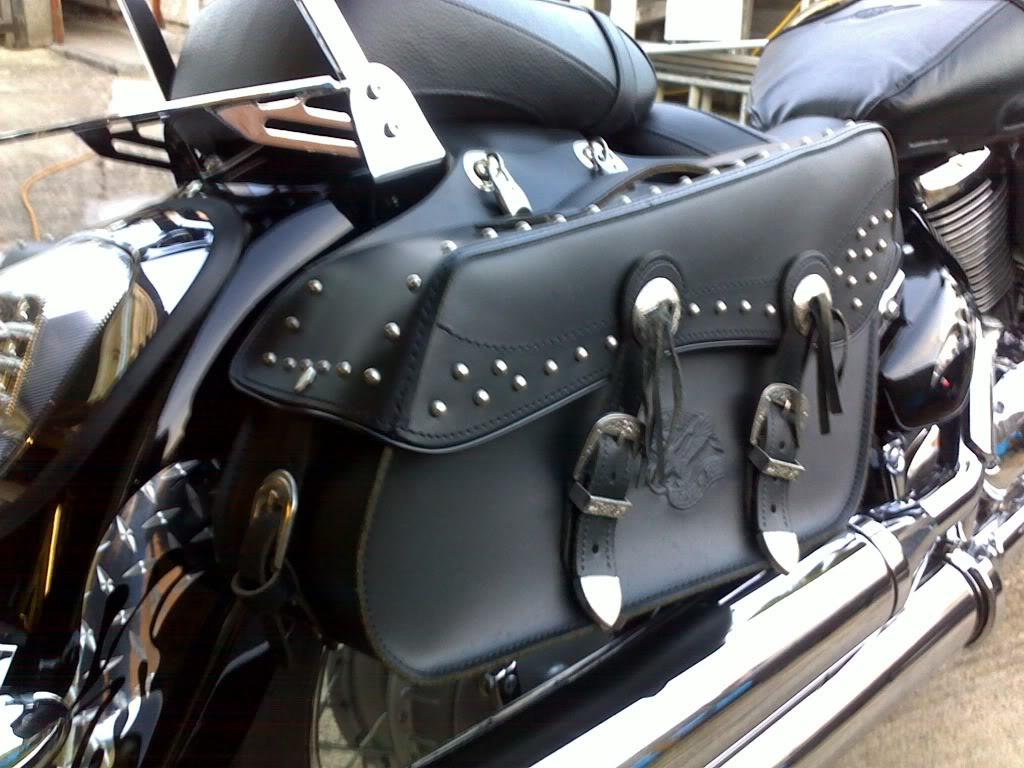 *Saddle Bags Strap Mod ............................ 2010 Suzuki C800 * 30102010