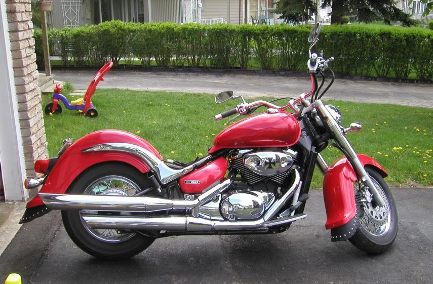 Chrome Tank & Speedo Trim on C800........................By Mistress K 37