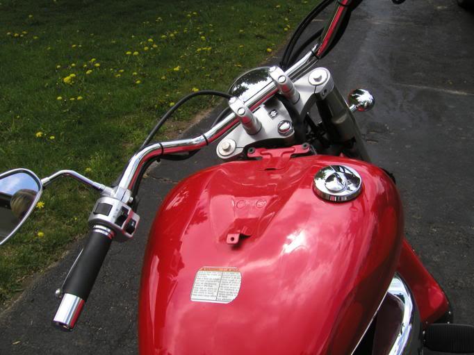 Chrome Tank & Speedo Trim on C800........................By Mistress K 38