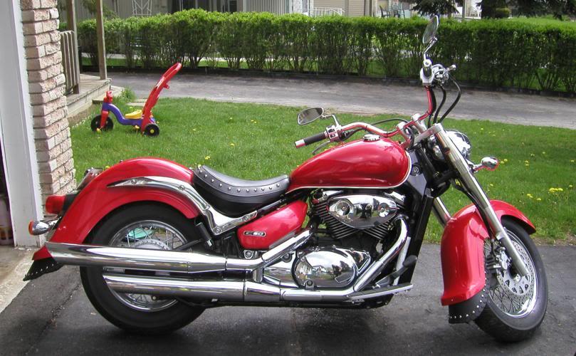 Chrome Tank & Speedo Trim on C800........................By Mistress K 40