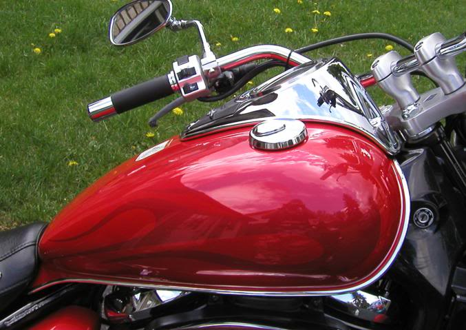 Chrome Tank & Speedo Trim on C800........................By Mistress K 41