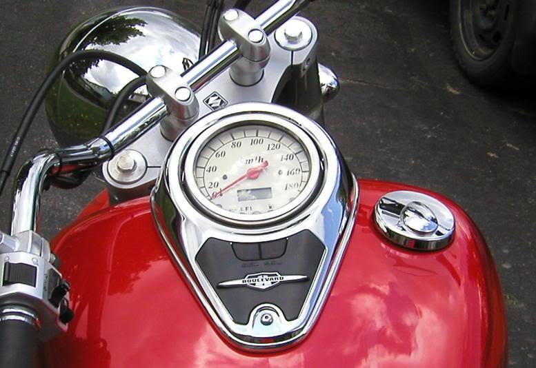 Chrome Tank & Speedo Trim on C800........................By Mistress K 42