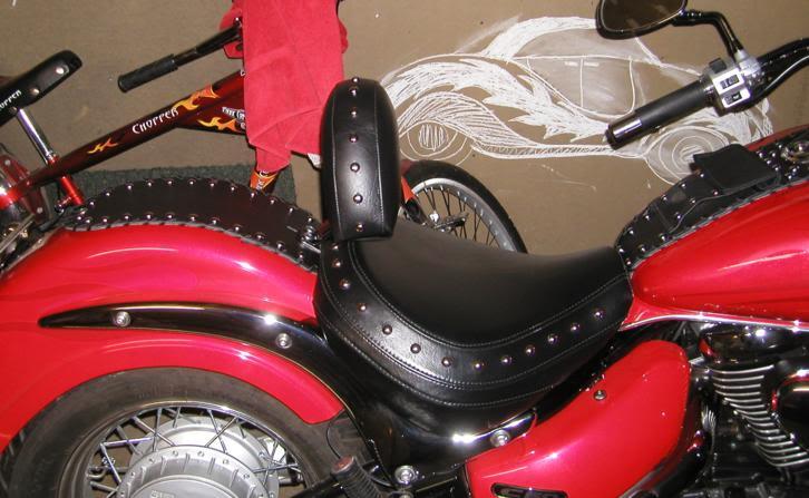 * Mistress K's adventure in modifying a Suzuki Intruder C50 / C800 * 57