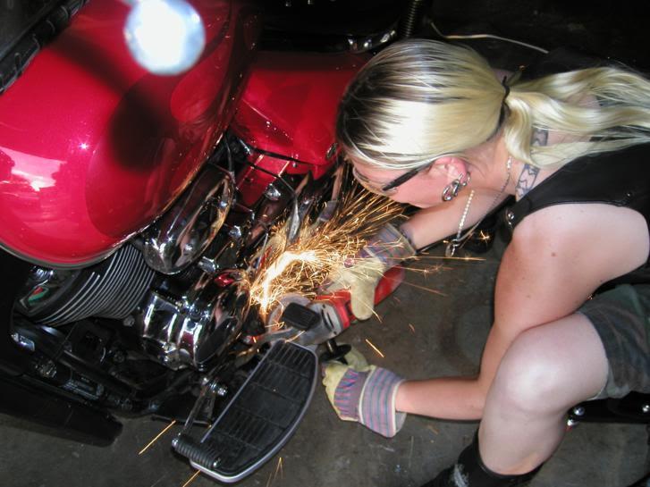 * Mistress K's adventure in modifying a Suzuki Intruder C50 / C800 * 80