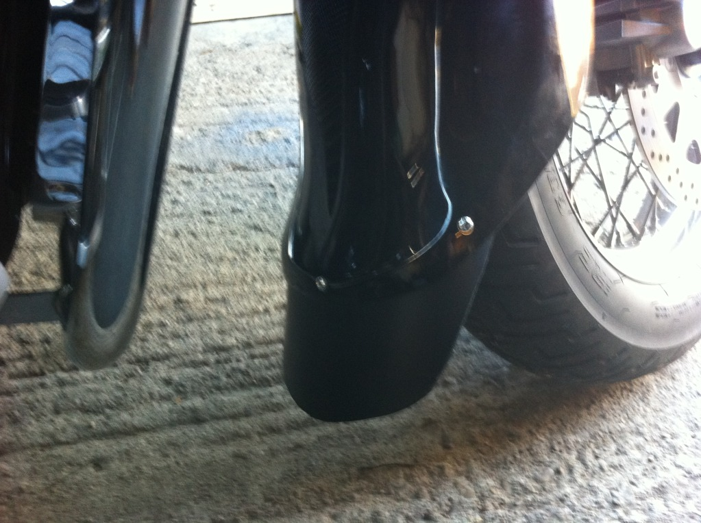 * Home Made Mud Flap (front) For Suzuki C800 / C50 * IMG_0285