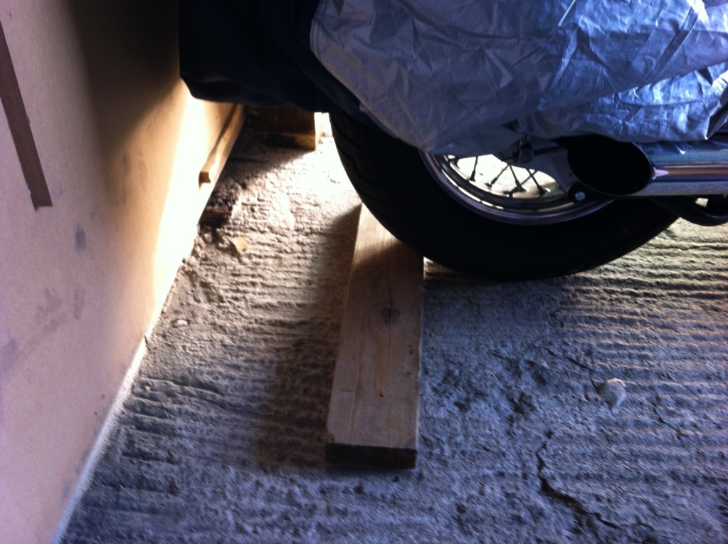* Wooden floor Bike Stop * IMG_0306