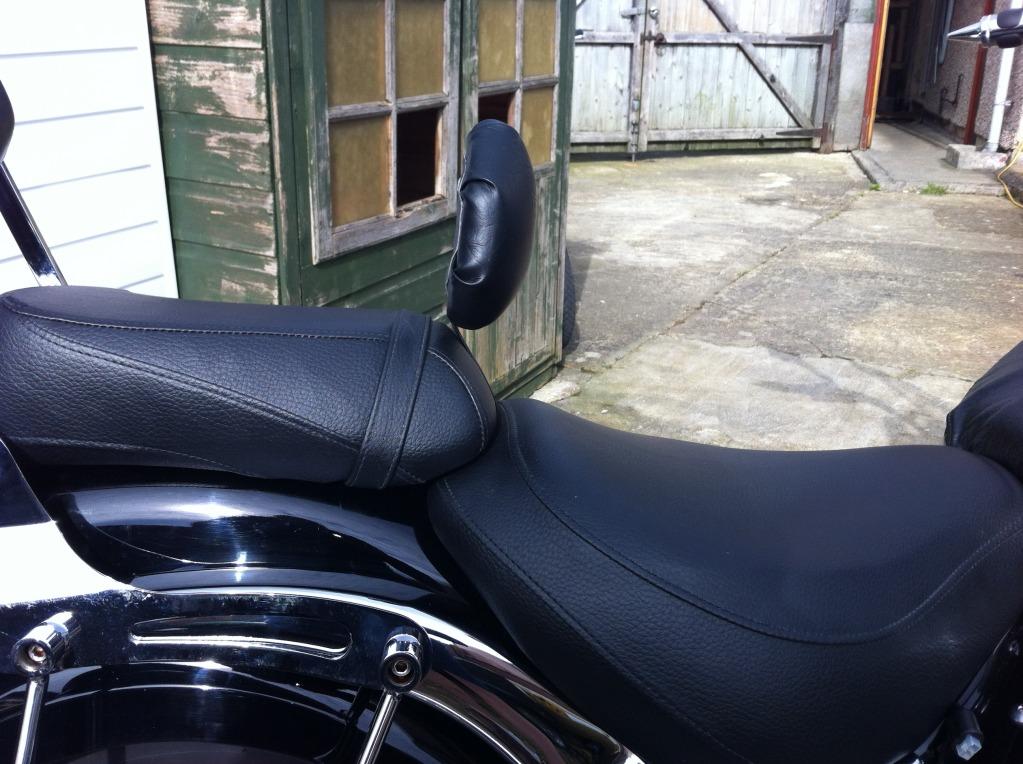 * Home Made Rider Back Rest Suzuki C800 / C50 * IMG_0359