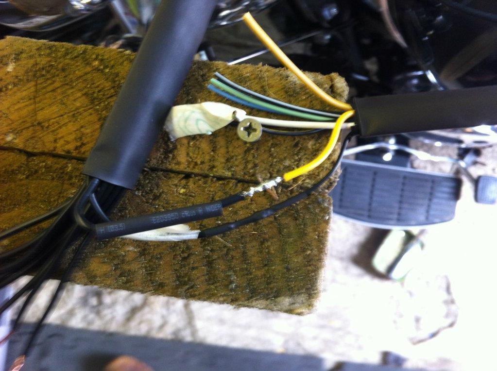 "* 14"" Ape Hanger bars Install, Suzuki C800 / VL800 * IMG_0775"