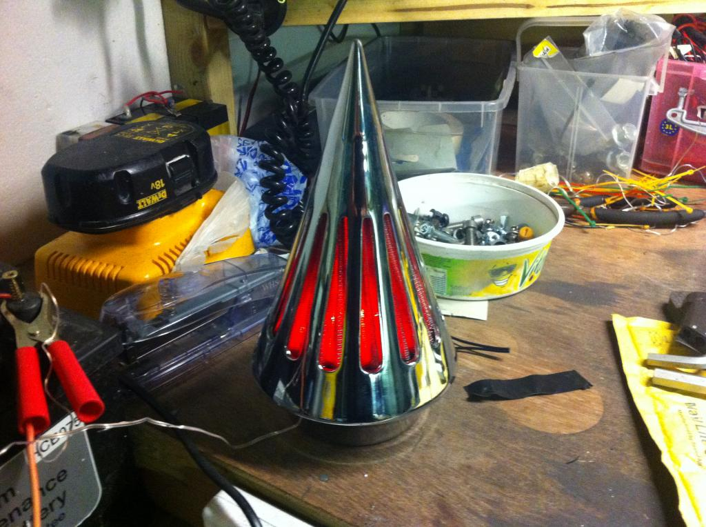 Chromed Spiked Cone Air Filter From Suzuki M109 - C800 Conversion IMG_1013_zpsc6ce246f