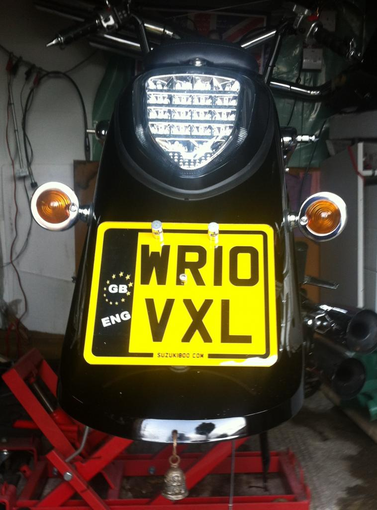 Rear end clean up & number plate repositioning / Suzuki C800 Intruder IMG_1175_zpsc7c08aa2