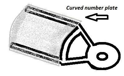 License Plate Side Mount for Suzuki M800 / M50 Platedesign