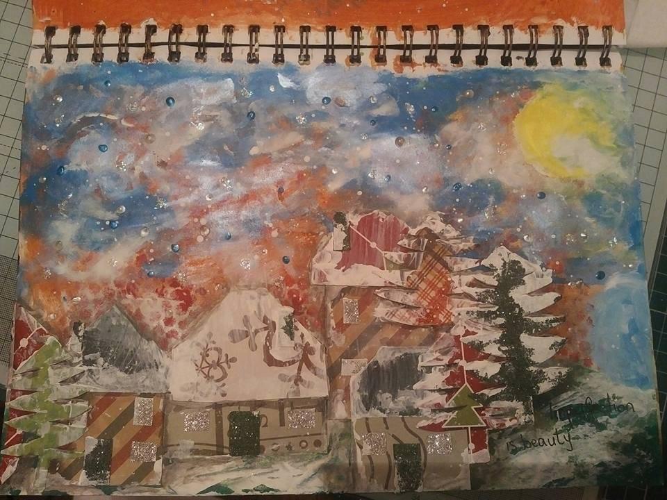 "VOT PROVOCARE ARTJURNALING DECEMBRIE - ""CASUTE""(MIHAELA DEIONI) Monica_zps239z2oqd"
