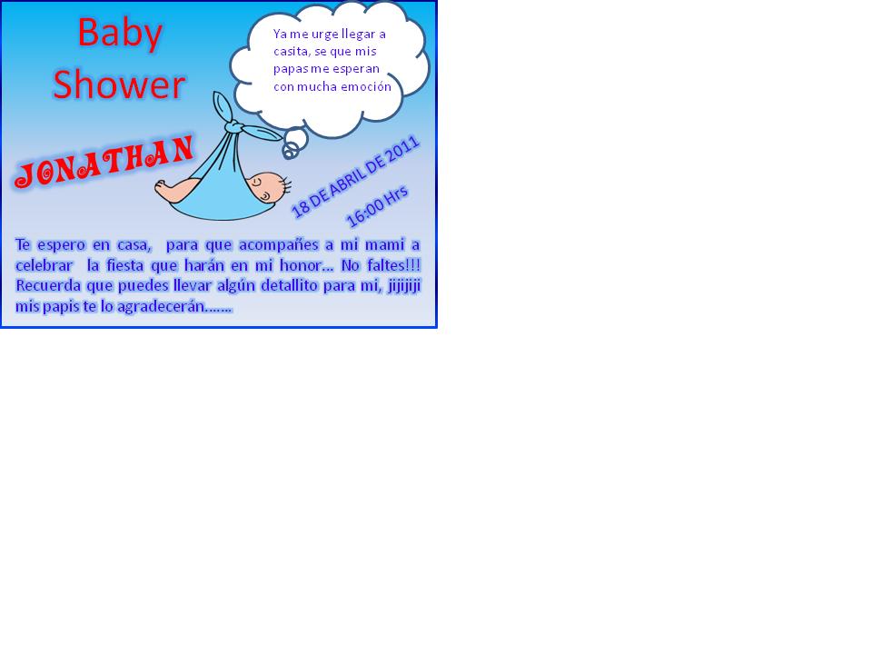 TAREAS DEL CURSO DE INVITACIONES CON POWER POINT - Página 9 Baby
