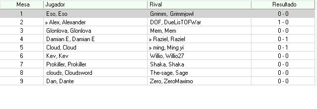Torneo Good Bye WC2010 : TOP 8 5TA-1