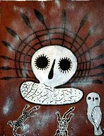 Wandjinas: Los dioses de los aborígenes australianos. DiosWadjina-lechuza