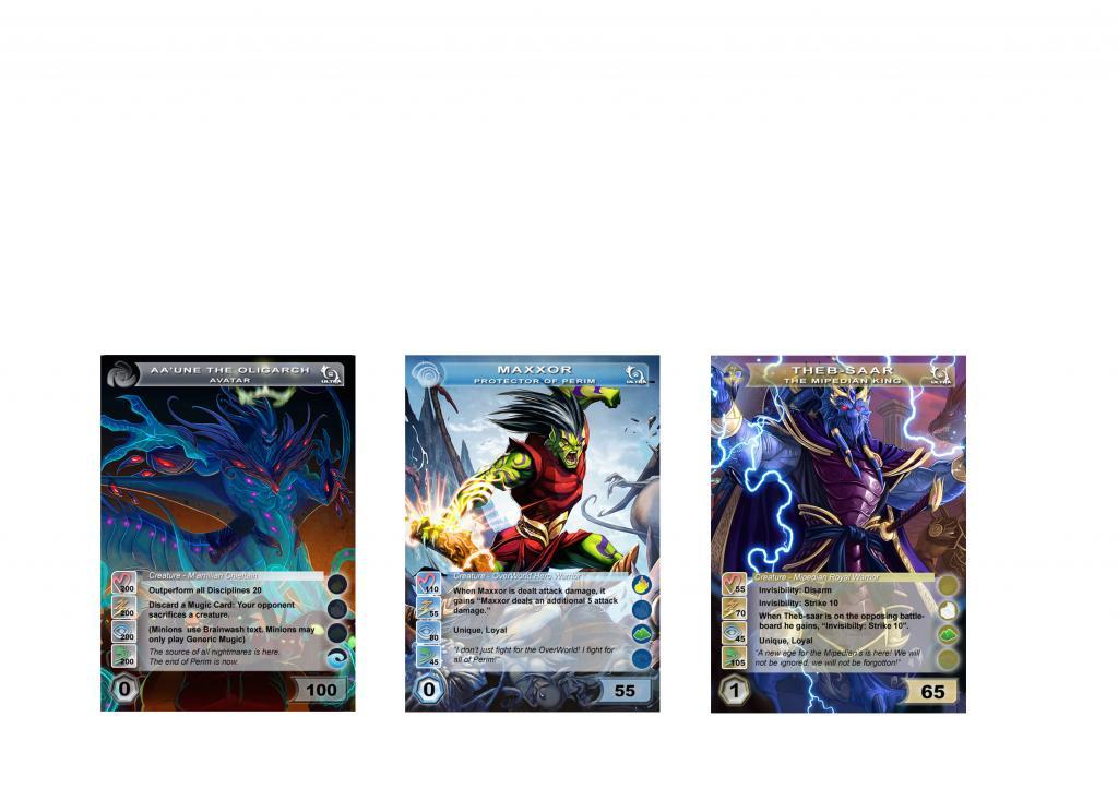 Doublea's Amazing Chaotic Proxy Cards! Foils