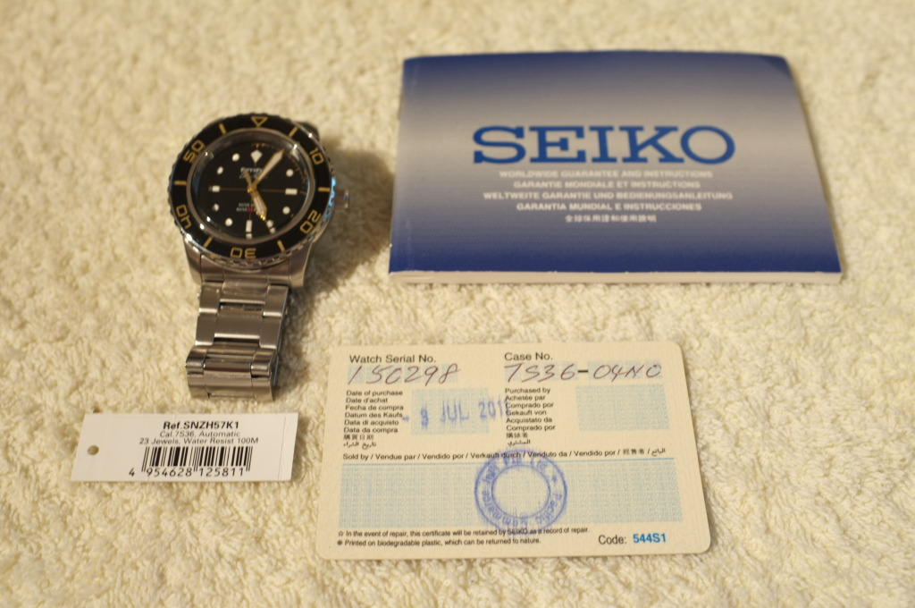 Vendo Seiko Fifty Five Fathoms (SNZH57K1) DSCF1651