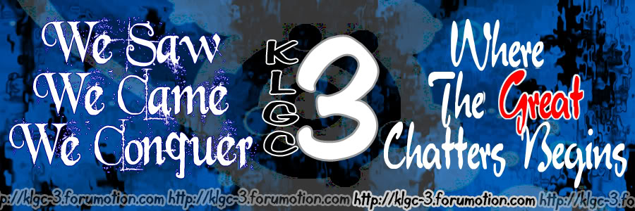 KLGC-3 wHeRe tHe gReAt cHaTtErS BeGiNs