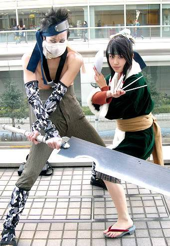 Cosplays de Naruto Zabuzahakucos