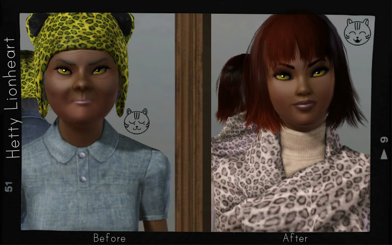 Hetty Lionheart's Before and After Make Over : You can teach a dog....I mean a cat....new tricks! Aea8160a