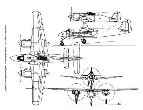 FOKE WULF Ta 154/ FW -190 A MISTEL  AIRFIX 1/72+ FW 190 A HELLER 1/72 5937480866_01a43e7614_zps0149820f