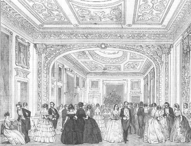 El traje de un caballero romántico  Devonshire_House_from_the_Illustrated_London_News_1850_zpse4c16316