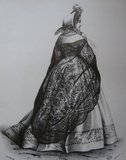Historia y uso de la mantilla española Th_472px-Fashion_plate_Shawl_of_black_Chantilly_lace_zps78aa835d