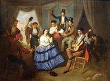 Historia y uso de la mantilla española Th_user_50_sala_xii_13_baile_en_una_caseta_de_feria__manuel_cabral_bejarano__zpse7171bf6